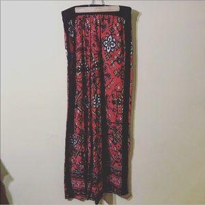 NWT Joan Vass red palazzo pants size medium